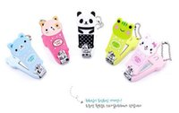 Wholesale Colorful Nail Clipper - New Nail Clippers Fashion Colorful Cute Cartoon Nail Finger Clipper Scissor w Key Chain Cutter Kid free shipping DHL 60007