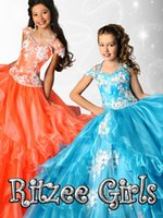 beads jpg - 2015 hot sale Beautiful spaghetti strap beaded Girls Lace Ball gown Pageant Dress jpg Organza Ruffles Princess Gowns