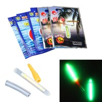 Wholesale 10 Mini Fishing Fish Fluorescent Light Stick Light Night Float Rod Lights Dark Glow Stick Useful