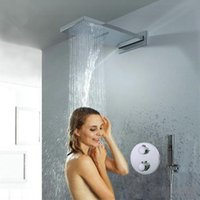 Wholesale Luxury Solid Brass Concealed Thermostatic Bathroom Rain Shower Faucet torneira primavera