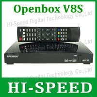 Wholesale 60pcs Original Openbox V8S satellite receiver same as S V8 support xUSB USB Wifi WEB TV Cccamd Newcamd YouTube Weather Forecast Biss Key