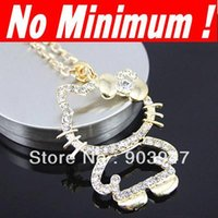 no minimum order - 2013 new hot selling fashion fashion necklaces for women hello kitty jewelry items no minimum order girl s fashion nke e35