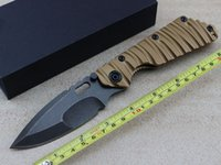 Cheap Strider Knife Wild Boar high quality With D2 steel blade TC4 titanium Handle Folding knives Tactical Survival Camping Tools Knife