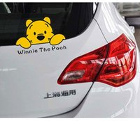 Wholesale Winnie The Pooh Fashion Car Stickers Personalized Cute Cartoon Animal Car Window Sticker Decals Scatch Cover