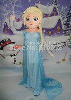 Vente en gros de haute qualité elsa mascotte costume adulte elsa mascotte costume costume de mascotte Elsa Livraison gratuite