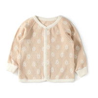 Wholesale GOTS Certificate organic cotton round neck baby Interlock stars flowers button long johns M