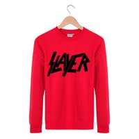 band slayer - Fashion Hip Hop Cool slayer ROCK N ROLL Rock Band Spring Autumn Ourdoor Casual Crewneck Pullover Streetwear Sweatshirt Men