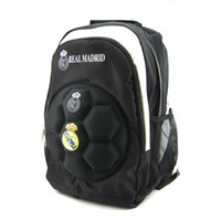 Wholesale New style Real Madrid backpack school bags sports knapsack football fans clubs bags with zipper field pack men bags