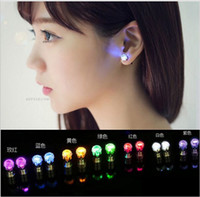 Wholesale 100pcs Accessories led luminous earring crystal women earrings female stud earring party bar supplies fashion