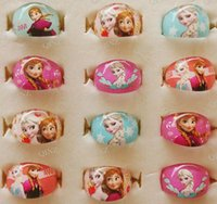 acrylic christmas gift - NEW Frozen Ana Elsa Cartoon Resin Rings Girls Children Party Gift Favor Christmas Xmas Gift Jewelry