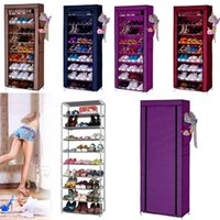 Wholesale Homestyle Shoe Cabinet Shoes Racks Storage Large Capacity Home Furniture Diy Simple Layers