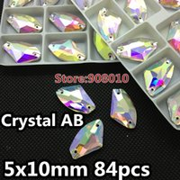 Wholesale Crystal High Quality Ax type Sew on Rhinestones flaxback x14mm x19mm x27mm crystal AB with holes Use for clothes