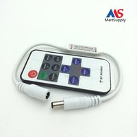 Wholesale Led Dimmer Mini Controller Wireless RF Remote hot Sale for Single Color Strip Light use keys DHL