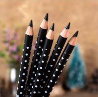 best wooden pencil - Co co best quality Wave Wooden Waterproof Multi use black Eyebrow pencil Eyeliner dyes easily