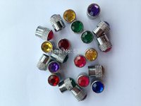 Wholesale High quality brass material reticulate pattern car wheel tire valve cap with colorful Diamond price