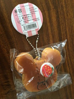 Wholesale cm the bear school pancake squishy with tags