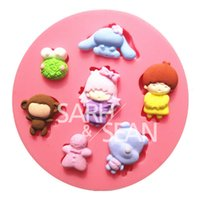 baby animals molds - M0302 The baby animal collection fondant cake molds soap chocolate mould kitchen baking Silicone Sugar Cake Decoration Tool