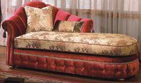 Neo-clássico chaise longue sofá lounge sofá tecido lazer cadeira vivenda de luxo sofá beleza sofá vermelho