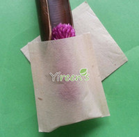 Wholesale X mm Heat sealing teabag pulp color filter bags unbleach no strings disposable empty tea filters