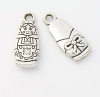 antique dolls - MIC Antique Silver Russian Dolls Charms Pendants Jewelry DIY x7 mm L1142 Hot sell Findings Components