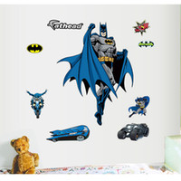 Wholesale 60 CM Large Cartoon Batman Wall Stickers Removable D Decals Home Decor For Kids Rooms adesivo de parede