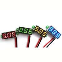 dc voltage panel meter - V OR V DC Car Motor Red LED Digital Voltmeter Volt Voltage Panel Meter Hot Sale