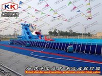 Wholesale games Type and PVC Material Outdoor Floating Water Park inflatable water slides