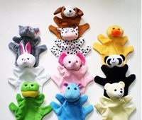 Wholesale Hot Sale Animal Finger Puppets for Kids Baby Cute Play Storytime Velvet Plush Toys Assorted Animals