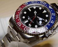 al por mayor los hombres rojos de los relojes de lujo-Relojes de lujo 18K del ORO BLANCO II ROJO / NEGRO última versión 116719 NUEVO MAYOR Hombre Reloj de pulsera