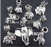 Wholesale p Mix Antiques Silver Elephant Charms Pendants For Bracelet Necklace Fashion Jewelry Making Beads Brand DIY Accessories M1910