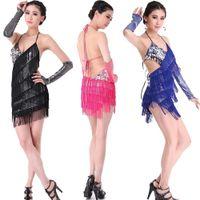 Wholesale 2015 Sexy Stretch Fabric Prom Ballroom Latin Dance Costume Salsa Samba Cha Cha Tango Professional Dancewear Dress Skirt Robe Danse Latine