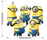 Wholesale In Stock New Arrival Despicable Me Minion Movie Decal Removable Wall Sticker in in Home Decor Art cute Kids Nursery Loving Gift