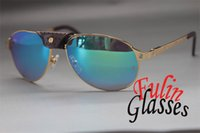 Wholesale High quality Metal EDITION LIMITEE SANTOS DUMONT Elegant Sunglasses Size MM