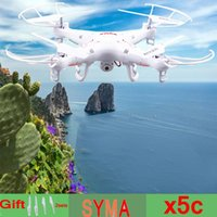 Wholesale New Version SYMA X5C GHz CH HD FPV Camera Axis RC Helicopter Quadcopter Gyro GB TF Card with MP Camera
