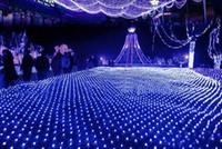 angels backgrounds - 6 M M net lamp lights flash lamps waterproof Nets wedding background decorative curtains lights Christmas lights