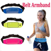 Wholesale Outdoor Sports multifunction Waterproof Phone Pockets Belt Armband Bag Cases With Clear View Touch waistpacks For Men and Women Biking