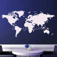 beautiful map design - Beautiful design colors Large PVC World Map Removable Vinyl Wall Sticker Home Bedroom Office Art Decal Home Decorating