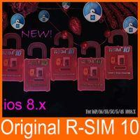 Wholesale R SIM RSIM R SIM r sim10 Unlock Card Perfect unlock iphone plus iphone s s IOS8 ios x AT T T mobile Sprint WCDMA GSM CDMA