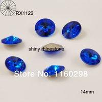 Wholesale capri blue colour sew beads mm rivoli round sew on rhinestone with claw setting