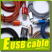 Wholesale Colorful Good quality new cable M M Fabric Nylon Braided Micro USB charger Cable adapter For Samsung galaxy S4 S6 note4 HTC