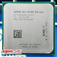 Wholesale AMD a6 GHz MB W quad core CPU processor FM1 shipping free scrattered pieces A6 APU