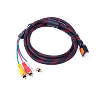 av cable to hdmi adapter - HDMI Male to RCA Video Audio AV Cable Adapter For HDTV DVD P
