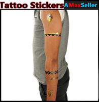 Wholesale Cheap Popular cm WS Series Metal Tattoo Stickers Fashion Temporary Sexy Transfer Tattoos Bling Waterproof Temporary tattoo Body Art