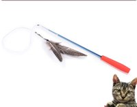Wholesale The Bird Catcher Pro Interactive Cats Training Toys Funny Kitten Feather Wand Fishing Pole Teaser with Feather Head Replaceable Kitty Dancer