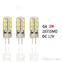 Wholesale Super bright energy saving DC V LEDG4 Crystal lamp light source W W and W W LED Light bead G4