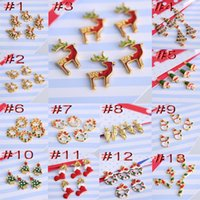 Wholesale 2014 new personalized Christmas ornaments compact alloy pendants models optional