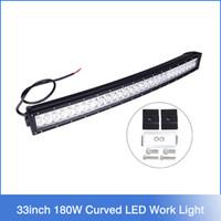 Cheap 33inch 180W Super bright LED off road light bar Cree Curved LED Work Light Bar Spot Flood beam ffroad Truck 4x4 ATV Lamp