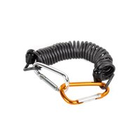 Wholesale Dual Aluminum Alloy Carabiner Stainless Steel Rope Black Silver Golden