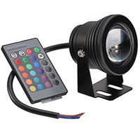 ac key - 10W Waterproof LED Underwater Spotlights AC DC V RGB Lighting with Key IR Remote Controller Hot Sale WRGB
