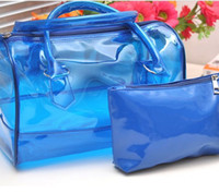 womens wholesale handbags - 5 color jelly transparent bag handbags clear jelly bag Bag in Bag Womens Sweet Jelly Transparent Handbag Tote Shoulder Bag TP5